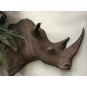 White Rhino Head Replica Wall Art